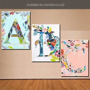 Aliexpresscom buy ideas for painting on canvas new for Letter canvas
