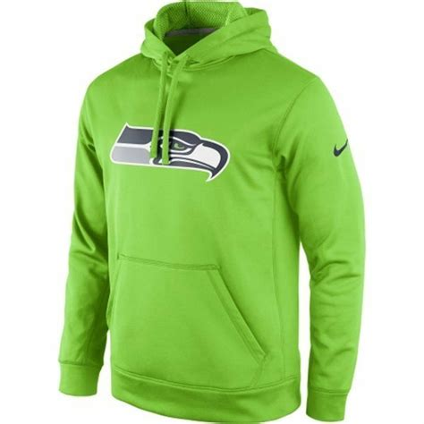 seattle seahawks nike neon lime green ko hoodie sweatshirt