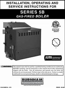 Burnham Series 5b Boiler Installation Operating Instructions