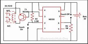 Touch On And Off Switch Circuit