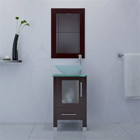 18 bathroom vanity with sink avola 18 inch vessel sink bathroom vanity espresso finish
