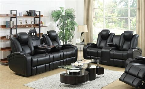 Reclining And Loveseat Sets by Black Leather Power Reclining Sofa And Loveseat Set