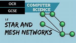 Ocr Gcse 1 5 Star And Mesh Network Topologies