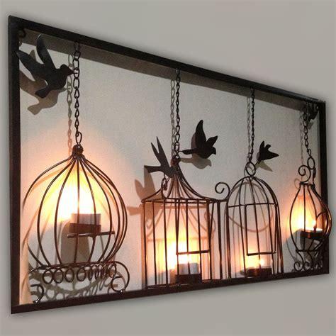 birdcage tea light wall metal wall hanging candle holder black 3d bird cage ebay