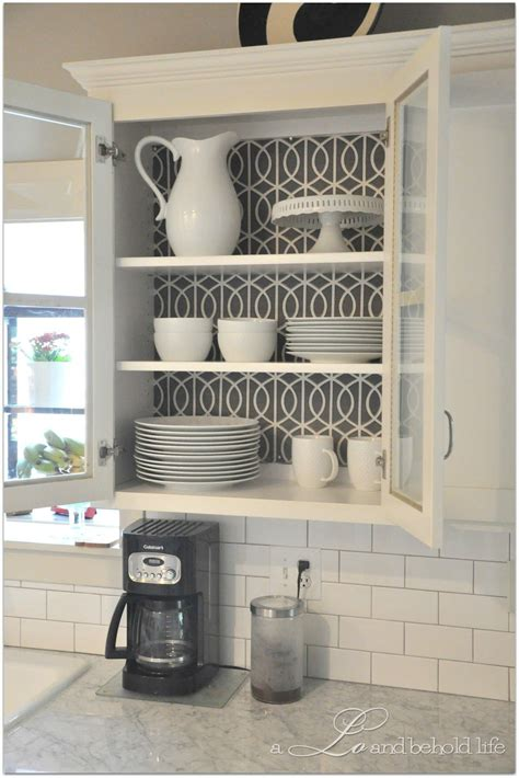 wallpaper inside kitchen cabinets 30 creative wallpaper uses and project ideas kitchen