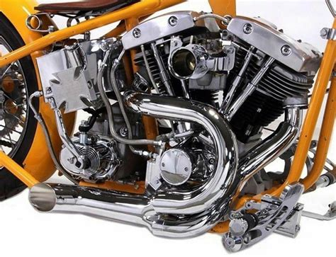 Chrome 2 Into 1 Lake Pipes Exhaust Headers 70up Harley