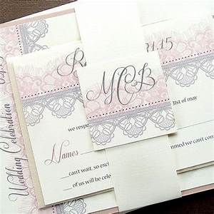 this chantilly lace invitation suite will set the tone for With very fancy wedding invitations