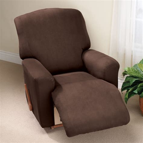 suede wing chair recliner slipcover faux suede large recliner slipcover