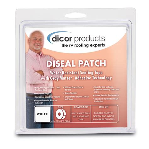 Dicor 4 in. x 50 ft. Diseal Sealing Tape in White-522TPO-450-1C - The Home Depot