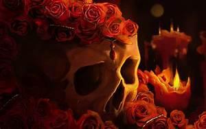 Roses On The Skull - WallDevil