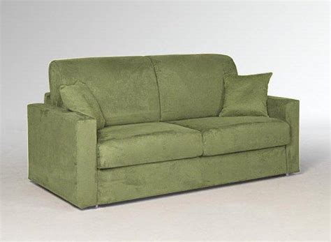 canapé convertible 2 places couchage quotidien canape lit 2 3 places dreamer microfibre vert convertible