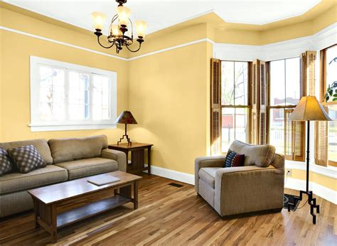 Living Room In Palomino Gold Pale Yellow Paint Colors