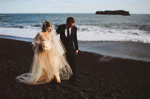 wedding vow backdrop iceland black sand elopement rosmery nate green