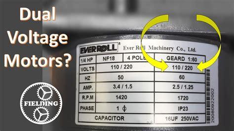 dual voltage motors   work  wiring
