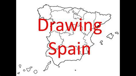 drawing map  spain part  country  autonomous