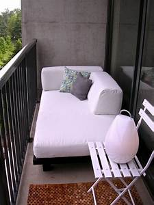 57 cool small balcony design ideas digsdigs With bed wedge with armrests