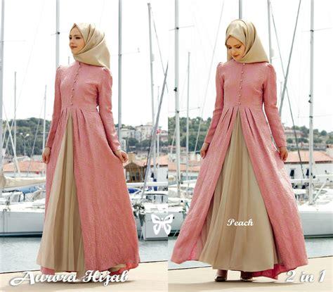 model gamis baju muslim fashion hijab terbaru setelan modern ryn fashion