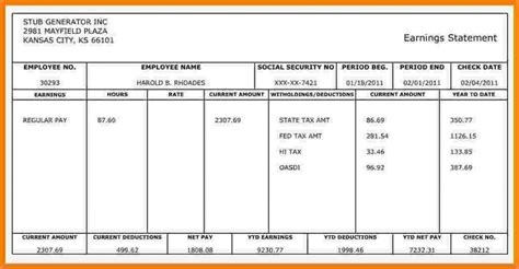 independent contractor pay stub template free check stub template html autos weblog