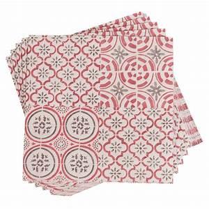 Papier Adhésif Carreaux De Ciment : 20 serviettes en papier motifs carreaux de ciment 33x33 ~ Premium-room.com Idées de Décoration