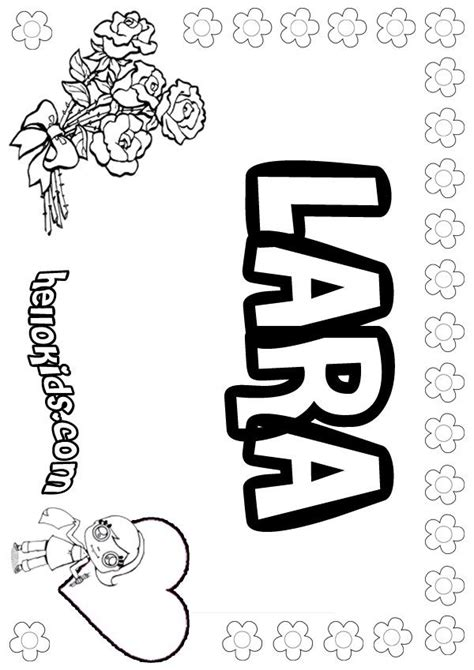 lara coloring page coloring pages  coloring pages