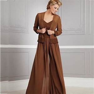 2017 mother of the bride pant suits with jacket v neck With wedding dress suits