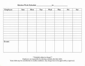 5+ blank work schedule template   teknoswitch
