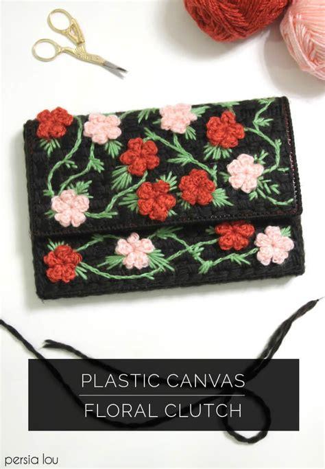 floral clutch plastic canvas pattern favecraftscom