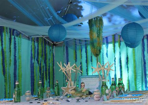 Mermaid Birthday Party Ideas Big Fireplaces Fireplace Indoor Mounting A Tv Over The White Stone Surround Entertainment Centers With Crushed Glass Log Holder For Hearths