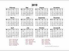 FREE Printable 2019 Accounting Calendar Templates