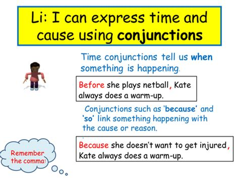 Expressing Time And Cause Using Conjunctions By Sarahunderwood  Teaching Resources