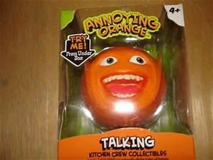 NEW ANNOYING ORANGE TALKING LAUGHING ORANGE PVC TOY ...
