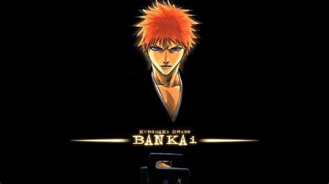 Orange Wallpaper Anime - kurosaki ichigo anime black background orange