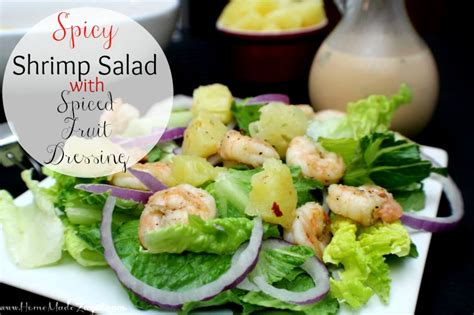 Arrange dancing shrimp into serving plate and sprinkle with spring onion chopped. Spicy Shrimp Salad with Spiced Fruit Dressing | Home Made Zagat