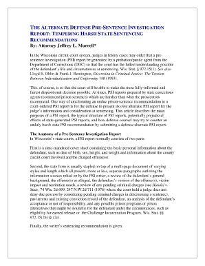 pre sentence report image fill  printable
