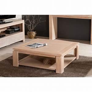 Table Salon Carrée : table basse sous plateau 90 x 90 cm teck blanchi dpi import ~ Teatrodelosmanantiales.com Idées de Décoration