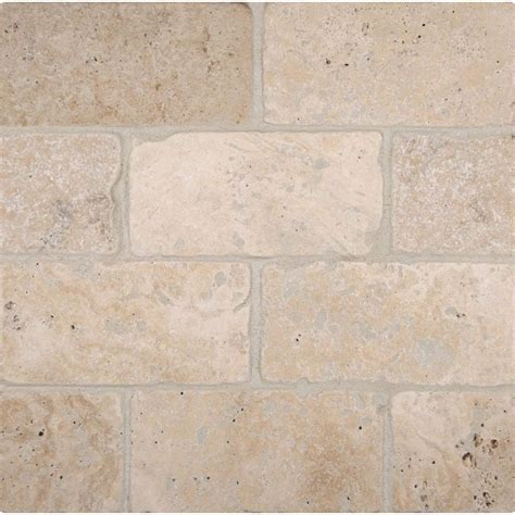 tumbled travertine ms international bologna chiaro 3 in x 6 in tumbled travertine floor and wall tile 1 sq ft