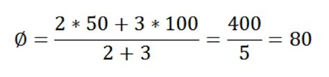 gewichteter mittelwert berechnen gewogener durchschnitt