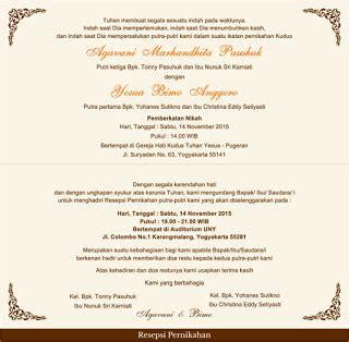 undangan resepsi pernikahan kristen