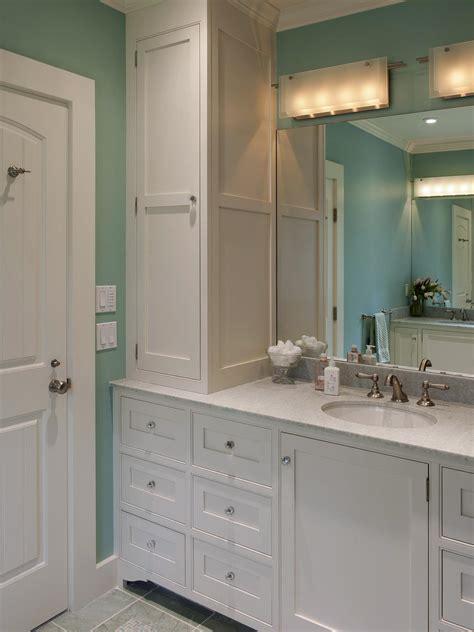 Contemporary Bathroom Cabinet by Contemporary Bathroom With Vertical Storage Cabinet Hgtv