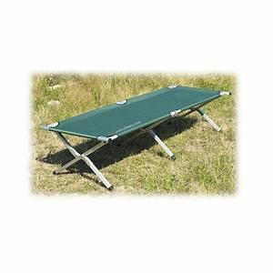 Lit De Camp : lit de camp repliable aluminium peche ~ Teatrodelosmanantiales.com Idées de Décoration