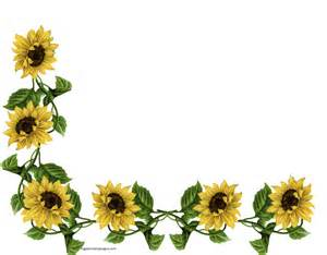 Sunflower Corner Border Designs