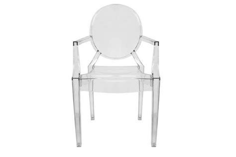 ghost chair clear acrylic stackable arm chair set of 2