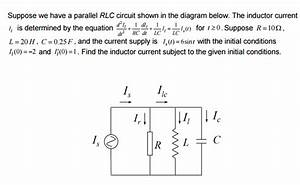 Solved  Suppose We Have A Parallel Rlc Circuit Shown In Th