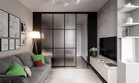 Studio Apartment : Modern Studio Apartments With Glass-walled Bedrooms