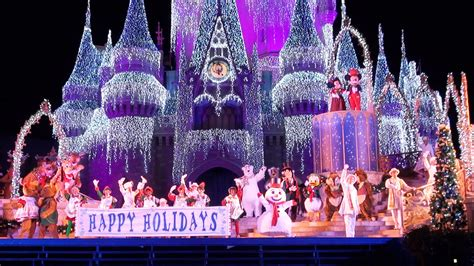 celebrate  season show  mickeys  merry