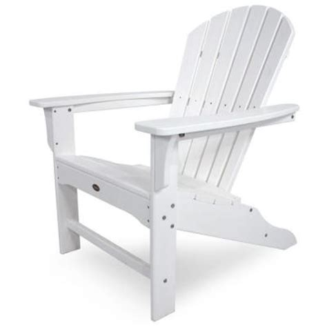 Trex Adirondack Chairs Home Depot by Trex Outdoor Furniture Cape Cod Classic White Patio