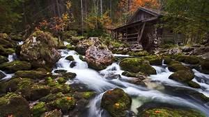 Rocks, Waterfall, Flow, Wallpapers