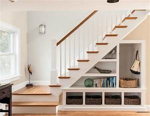 rangement sous escalier et idees d39amenagement alternatif With what kind of paint to use on kitchen cabinets for papier peint wc