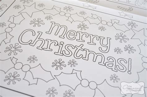 christmas craft christmas placemat  organised housewife