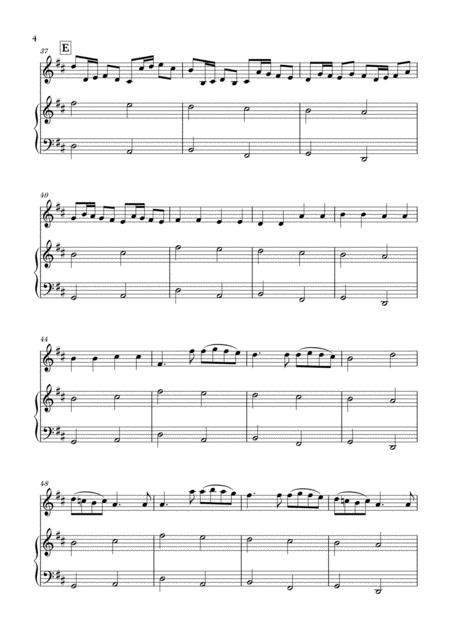 Pachelbel's most famous work, originally for three violins and basso continuo, but since arranged for a wide variety of instruments. Canon In D For Violin And Beginner Piano Sheet Music PDF Download - coolsheetmusic.com